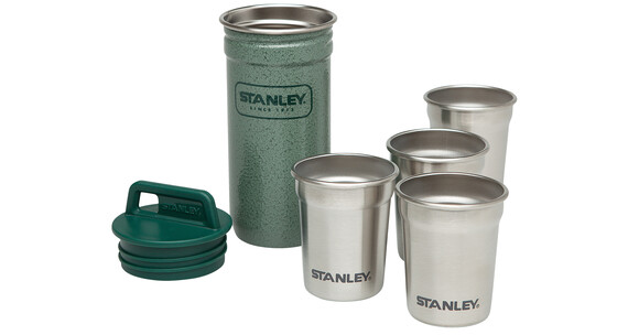 Stanley Shot Glass Becher-Set 4x59ml Hammerschlag grün